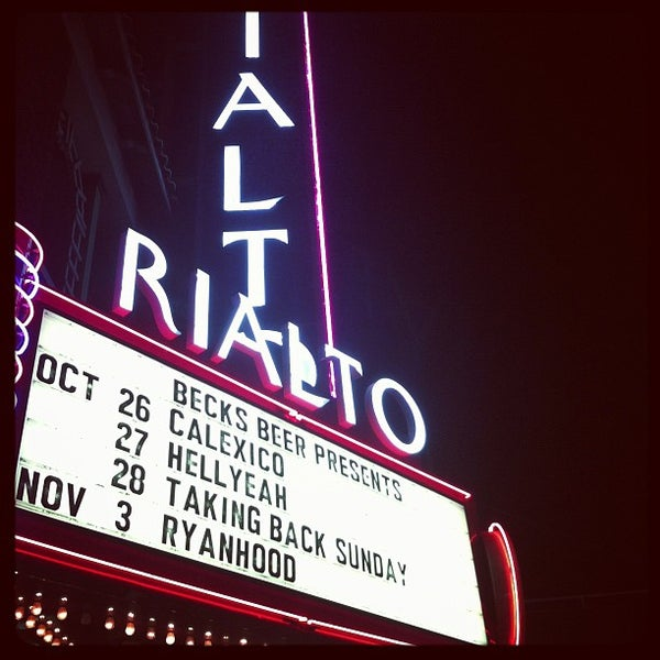 Photo taken at The Rialto Theatre by Kristi P. on 10/27/2012