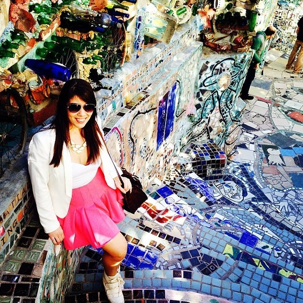 Photo taken at Philadelphia's Magic Gardens by Lívia G. on 4/6/2014
