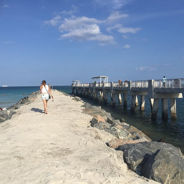 Photo taken at South Pointe Pier by CJ S. on 5/23/2016