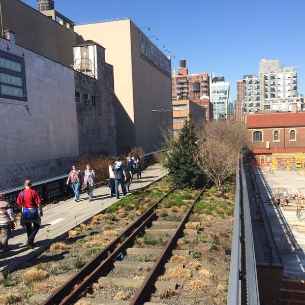 Photo taken at High Line 10th Ave Amphitheatre by Tony M. on 4/12/2014