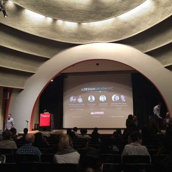 Photo taken at The New School Auditorium at 66W 12th by Gokce G. on 10/20/2015