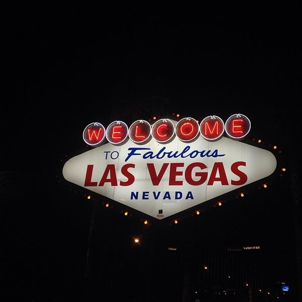 Photo taken at Welcome To Fabulous Las Vegas Sign by May T. on 3/6/2014