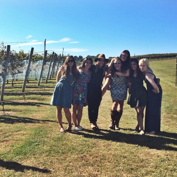 Photo taken at Three Fox Vineyards by Rachel O. on 10/2/2014