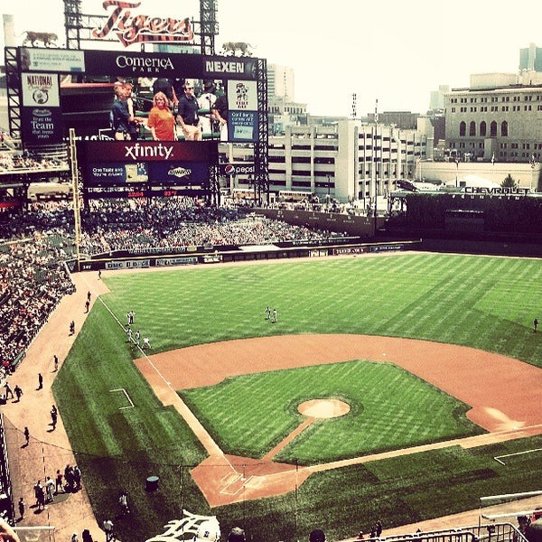 Photo taken at Comerica Park by Brent N. on 7/14/2013