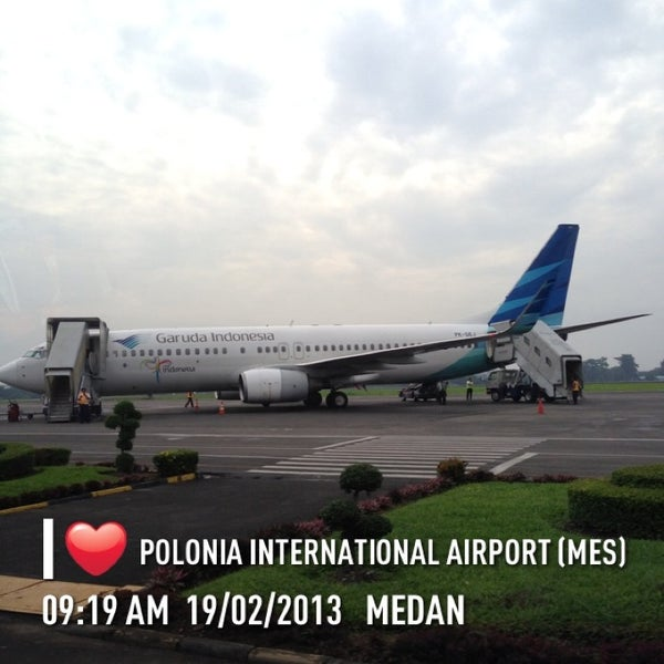 Photo taken at Polonia International Airport (MES) by Syamsir A. on 2/19/2013