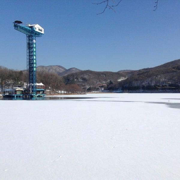 Photo taken at Yuldong Park by Sr J. on 12/31/2012