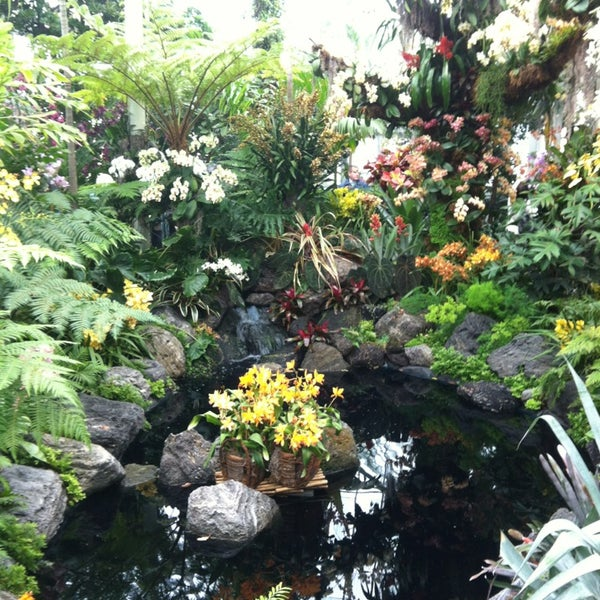 Photo taken at Enid A. Haupt Conservatory by Beesham S. on 4/7/2013