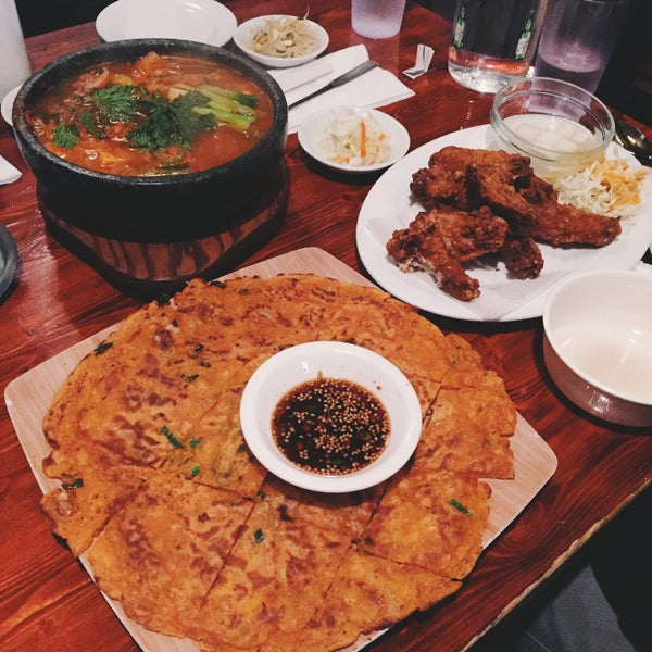 Best good korean food in sf. Kimchi fried rice, kimchi pancake, fried chicken... can't go wrong.