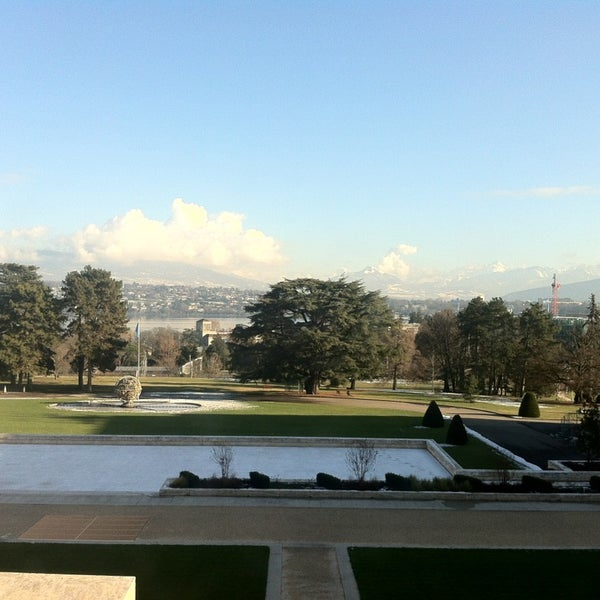 Photo taken at Palais des Nations by Olaf B. on 1/28/2013