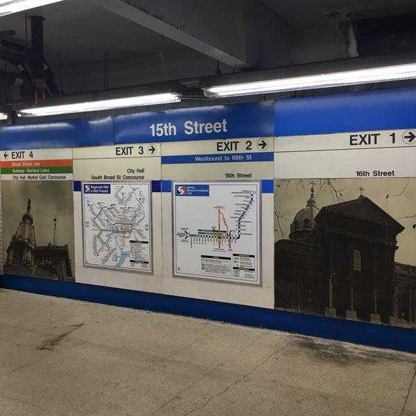 Photo taken at SEPTA MFL/TRL 15th Street Station by Charles M. on 10/4/2016