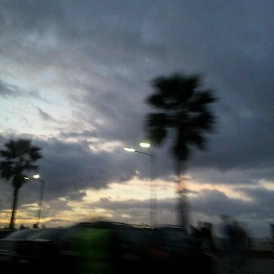 Photo taken at La Corniche de Casablanca by Soukayna m. on 1/1/2013