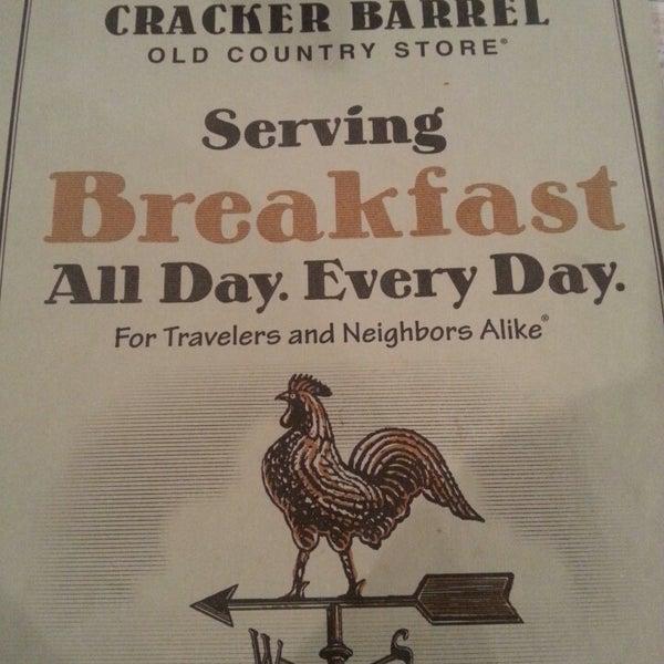 Photo taken at Cracker Barrel by Herb Jackson Jr. on 4/21/2013
