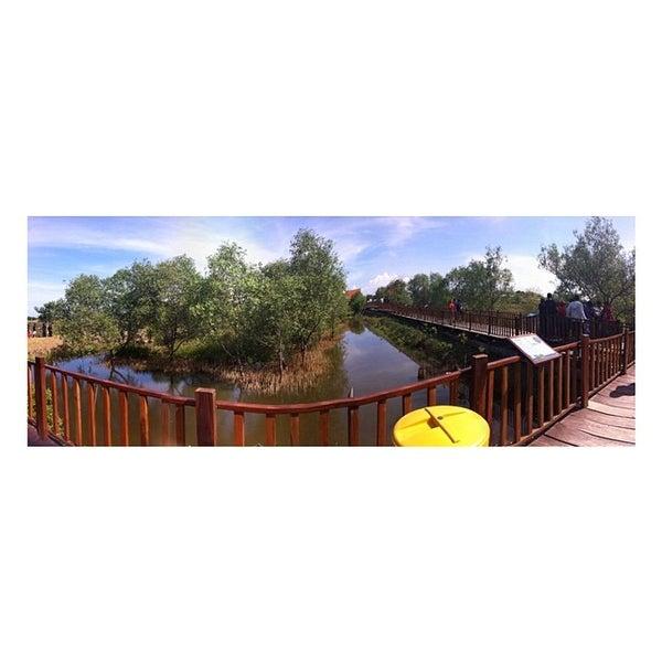Photo taken at Ekowisata Mangrove by Intan Mustika S. on 3/31/2014