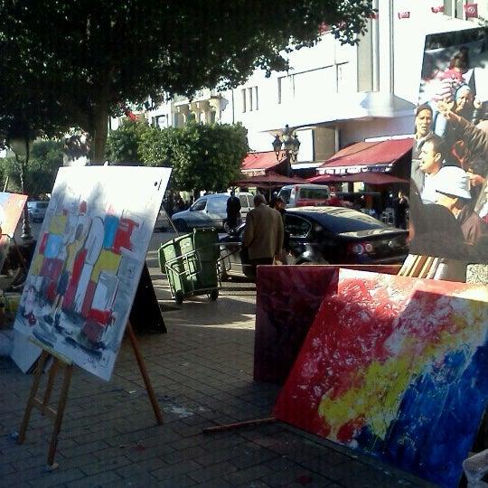 Photo taken at Avenue Habib Bourguiba by Anouar B. on 1/11/2013