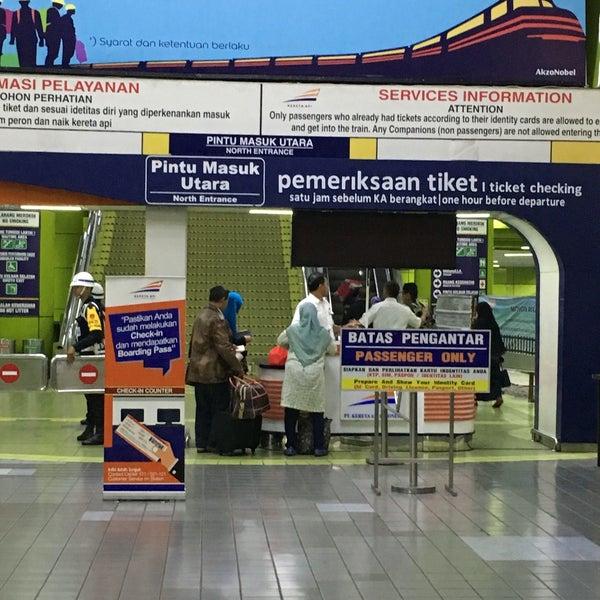 Photo taken at Stasiun Gambir by Piro J. on 8/9/2016