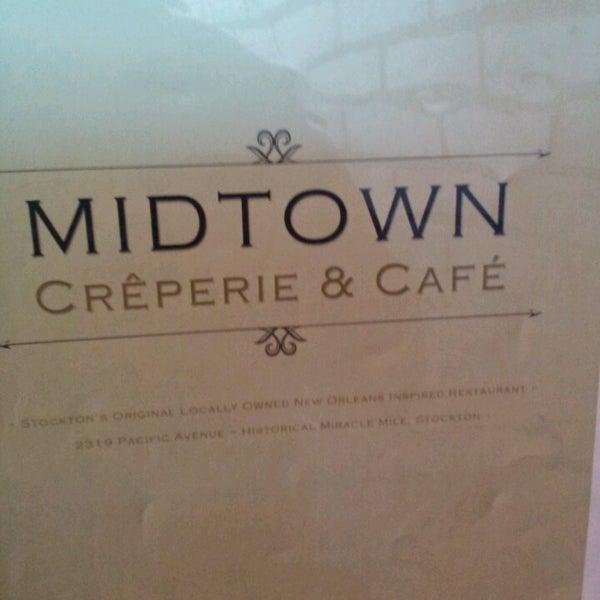 Photo taken at Midtown Crêperie & Café by Gilbert B. on 6/7/2014