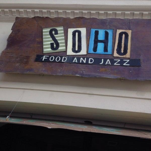 Soho Food And Jazz Menu