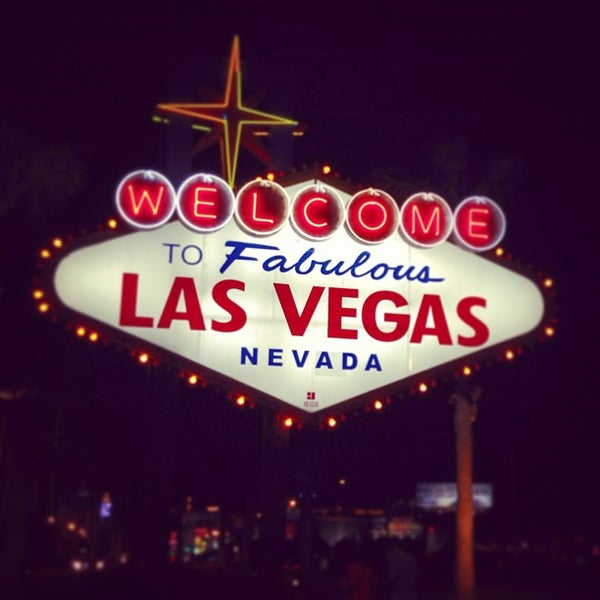 Photo taken at Welcome To Fabulous Las Vegas Sign by Ryan V. on 3/7/2013
