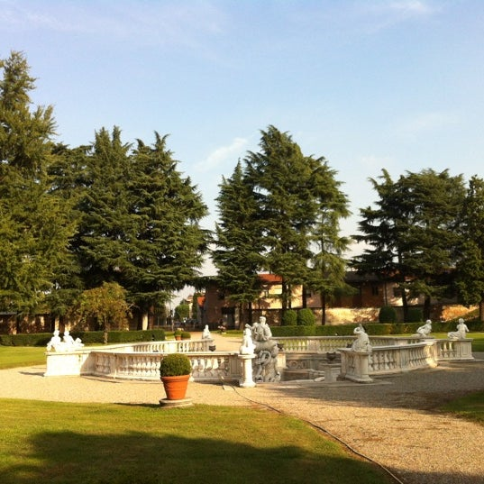 Photo taken at Villa Visconti Borromeo Litta by Luca S. on 10/6/2012