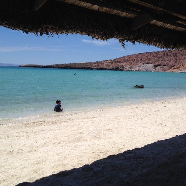 Photo taken at Playa Pichilingue by Edgar H. on 7/21/2014