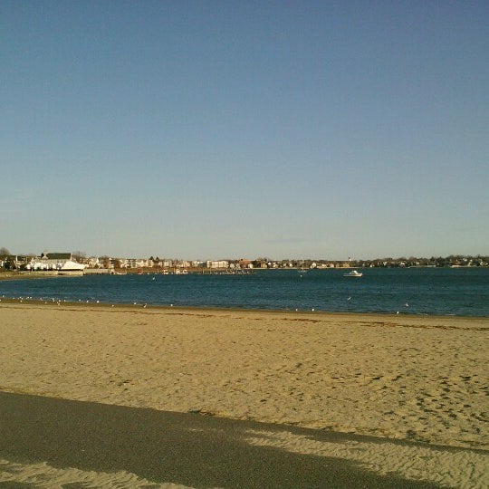 Photo taken at Constitution Beach by Ann B. on 1/19/2013