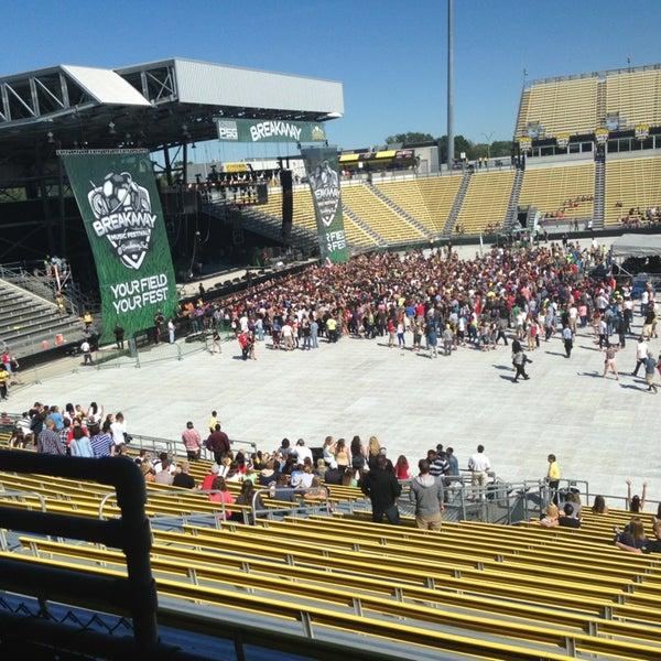 Photo taken at MAPFRE Stadium by Beth B. on 9/14/2013