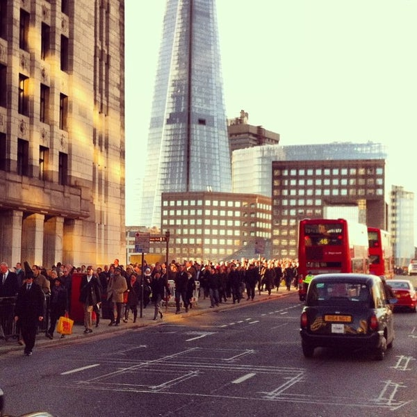 Photo taken at London Bridge by Marcin C. on 2/10/2013