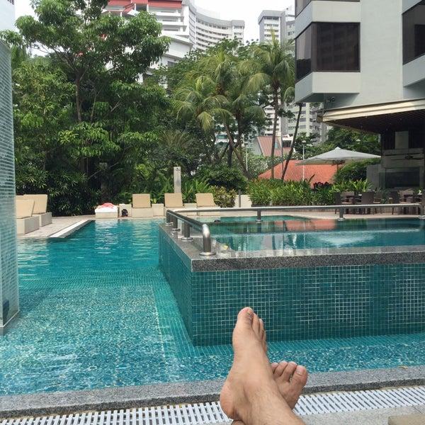 Swimming Pool Grand Hyatt Singapore Pool In Orchard Road