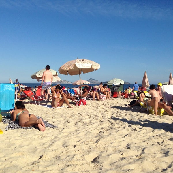 Photo taken at Praia de Ipanema by Sonia B. on 7/6/2014