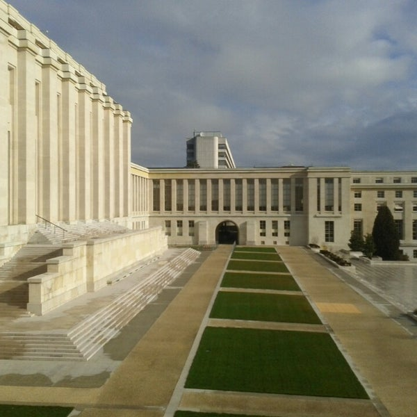 Photo taken at Palais des Nations by Brahms on 3/4/2014