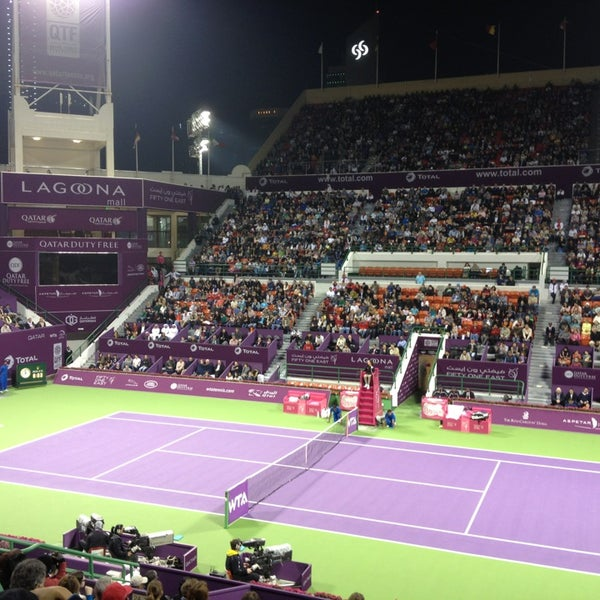 Photo taken at Qatar Tennis Federation by Yogi J. on 2/16/2013