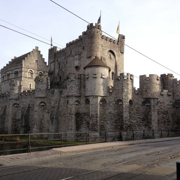 Photo taken at Gravensteen / Castle of the Counts by David D. on 2/3/2013