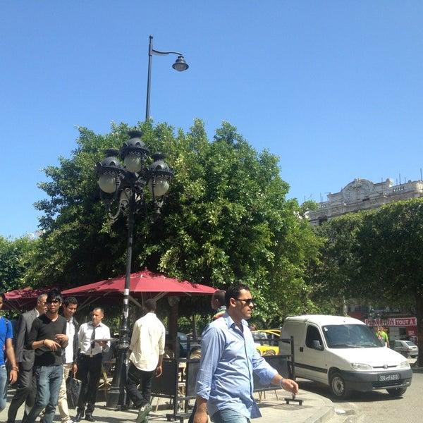 Photo taken at Avenue Habib Bourguiba by BAR K. on 5/24/2013