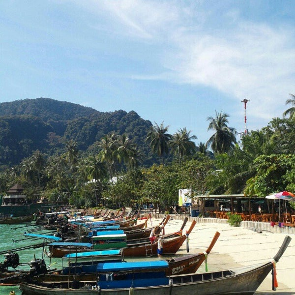 Photo taken at Phi Phi Island by Elaine T. on 1/14/2013
