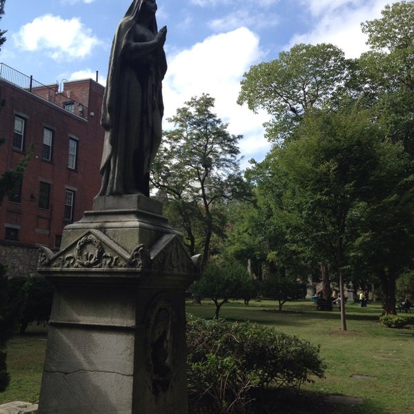 Photo taken at New York City Marble Cemetery by Tom M. on 10/13/2013