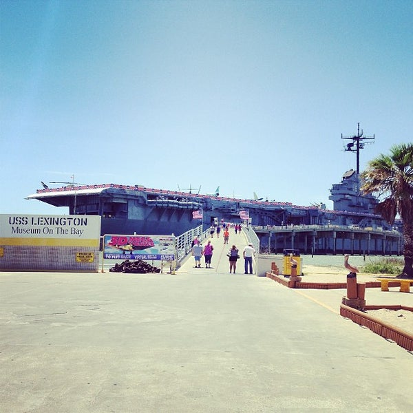 Photo taken at USS Lexington Museum On The Bay by Jared T. on 6/15/2013