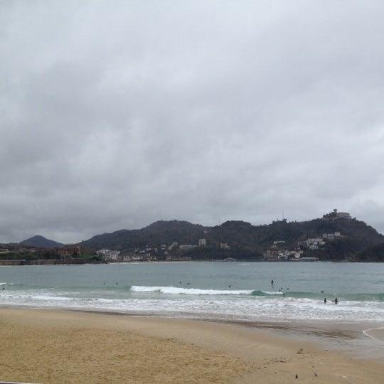 Photo taken at Paseo de La Concha by Laura O. on 11/25/2012