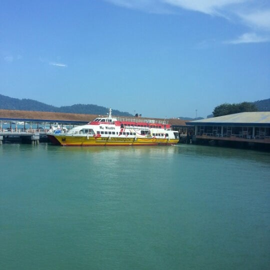 Jetty Point Jeti Boat Or Ferry In Langkawi