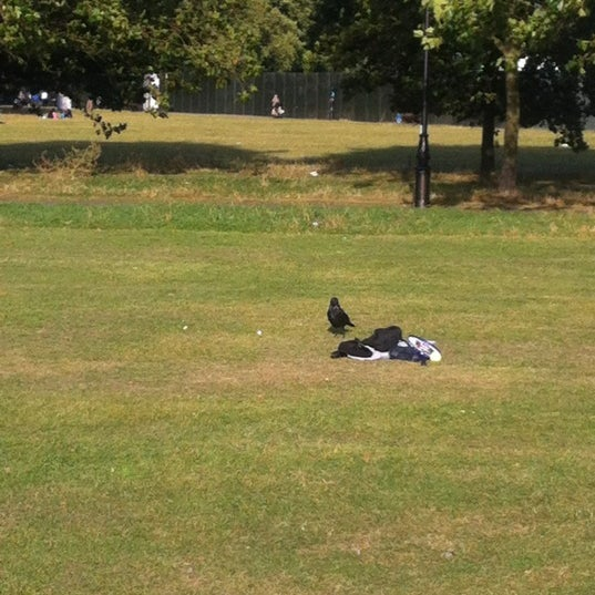 Photo taken at Clapham Common by Lewis B. on 9/16/2012