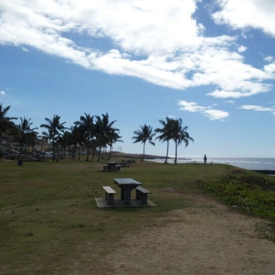 Photo taken at Maili Beach by Jaire G. on 1/16/2013