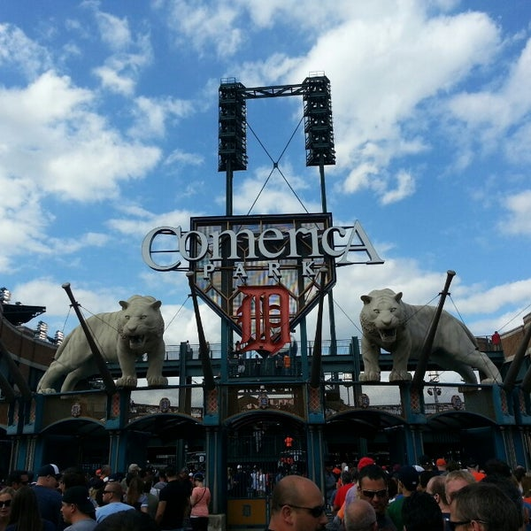 Photo taken at Comerica Park by Q T. on 6/8/2013