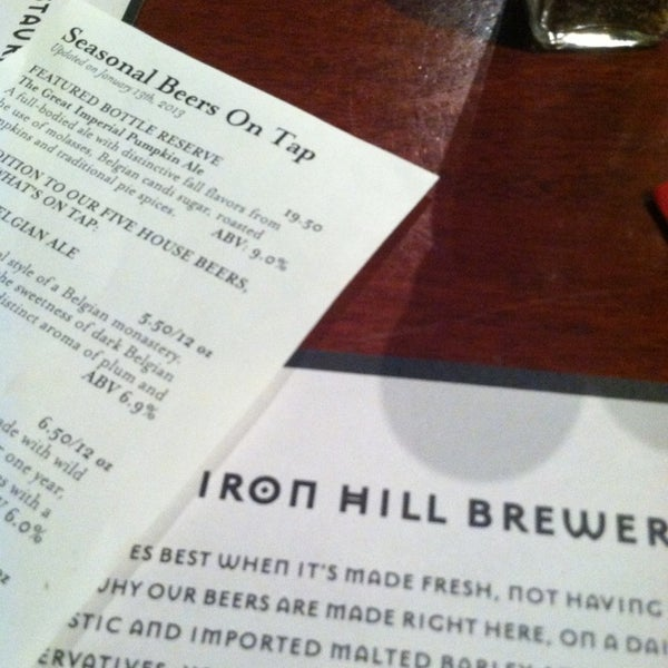Photo taken at Iron Hill Brewery & Restaurant by Chris G. on 1/13/2013