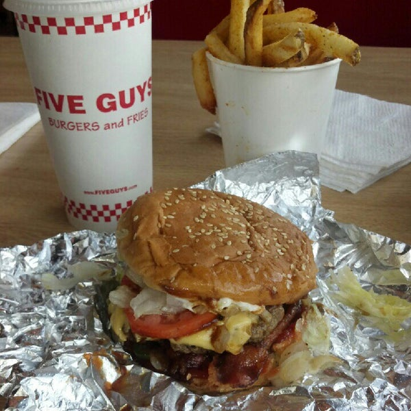 Photo taken at Five Guys by Ashley G. on 10/3/2012