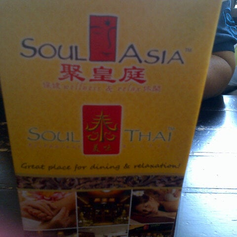Photo taken at Soul Thai Restaurant by elyn m. on 4/28/2014