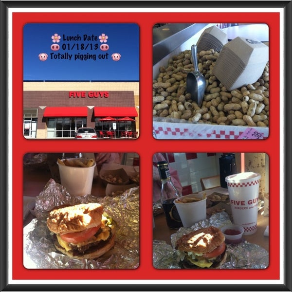 Photo taken at Five Guys by 🌼Veronica🌼 on 1/18/2013