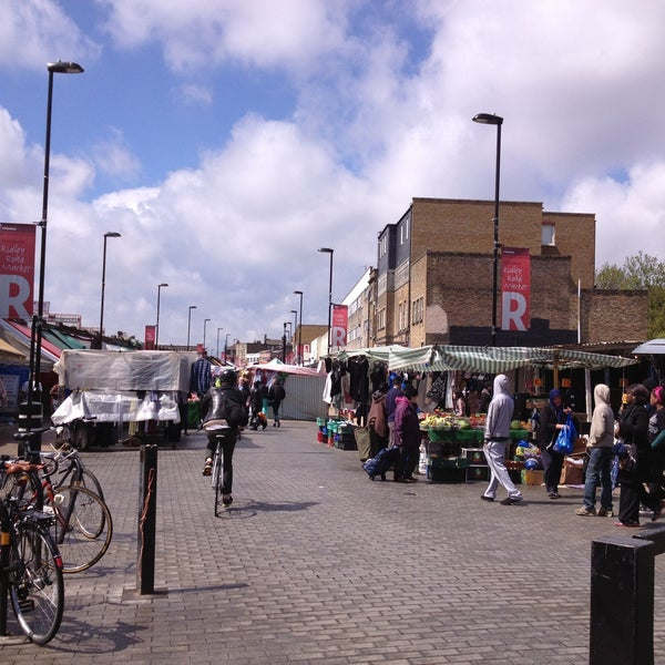 Photo taken at Ridley Road Market by Irene N. on 5/4/2013