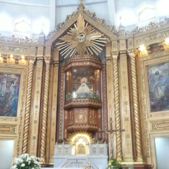 Photo taken at National Shrine of Our Lady of Peace and Good Voyage (Antipolo Cathedral) by Sarah P. on 6/8/2013