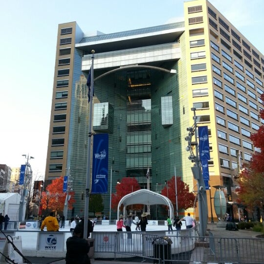 Photo taken at Campus Martius Park by Frank W. on 11/10/2012