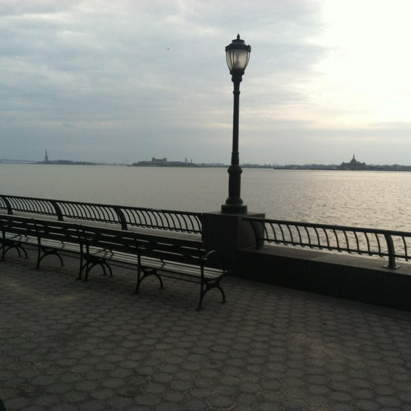Photo taken at Battery Park City Esplanade by Scott B. on 1/1/2013