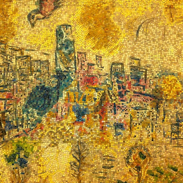 """Photo taken at Chagall Mosaic, """"The Four Seasons"""" by David W. on 3/31/2013"""